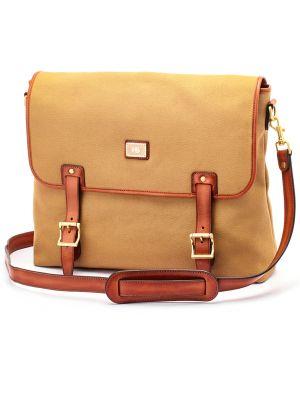 Canvas-Slim-Messenger-Bag